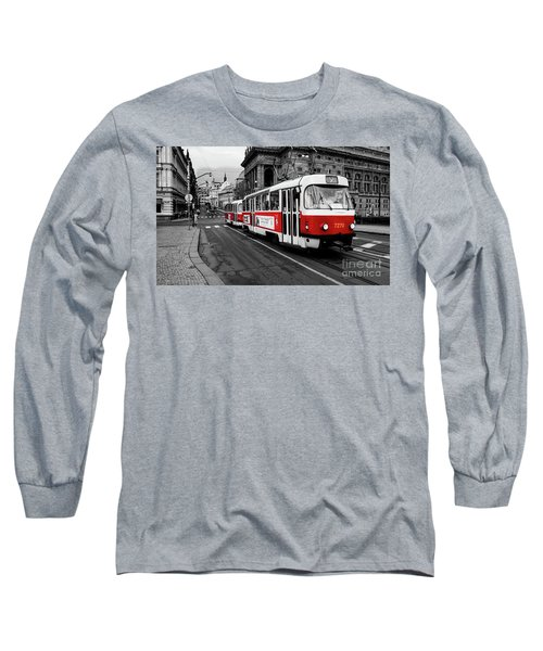 Red Tram Long Sleeve T-Shirt by M G Whittingham