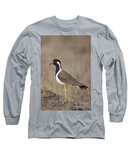 Red-wattled Lapwing Long Sleeve T-Shirt