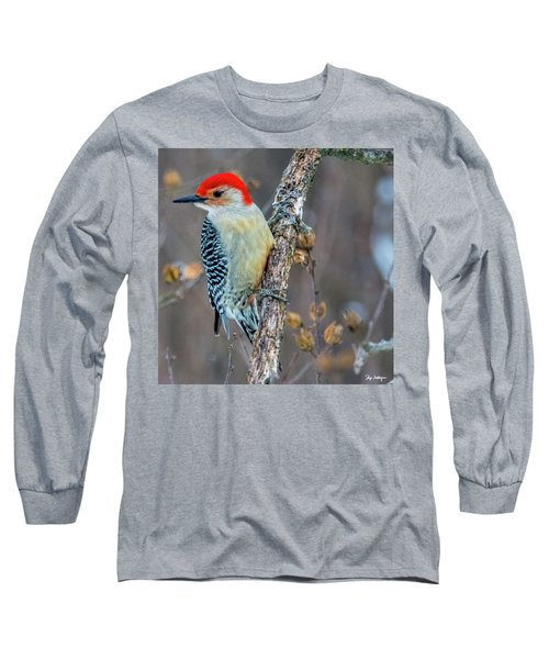 Redbellied Woodpecker Long Sleeve T-Shirt by Skip Tribby