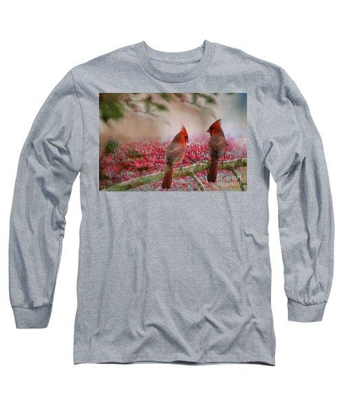 Redbirds At Dusk Long Sleeve T-Shirt
