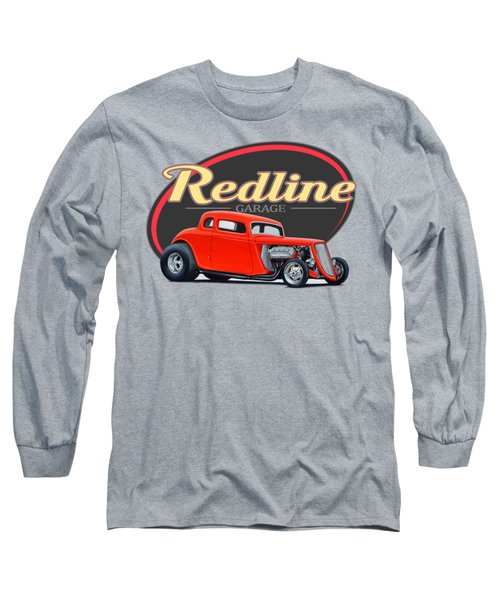 Redline Hot Rod Garage Long Sleeve T-Shirt