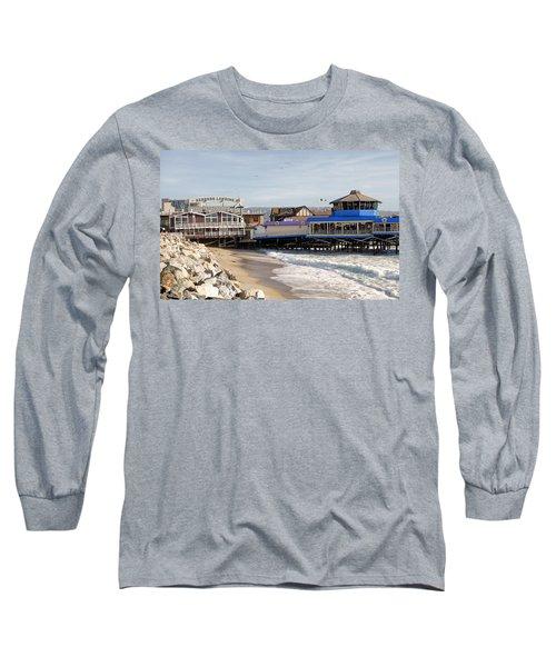 Redondo Beach Pier Shopping Long Sleeve T-Shirt