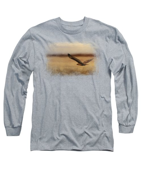 Redtail In The Field Long Sleeve T-Shirt by Jai Johnson