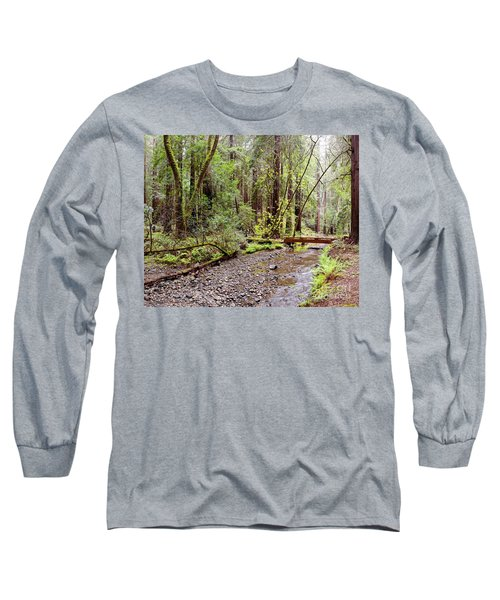 Redwood Creek Flowing Through Muir Woods National Monument - Mill Valley Marin County California Long Sleeve T-Shirt