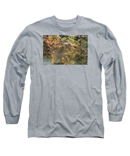 Reflecting Gold Long Sleeve T-Shirt by Linda Geiger