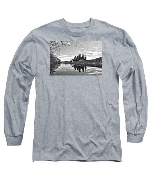 Reflection On The Lehigh Long Sleeve T-Shirt by DJ Florek