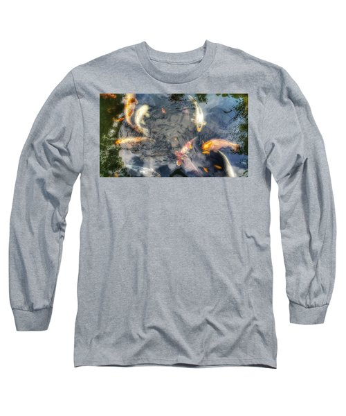 Reflections And Fish 3 Long Sleeve T-Shirt by Isabella F Abbie Shores FRSA