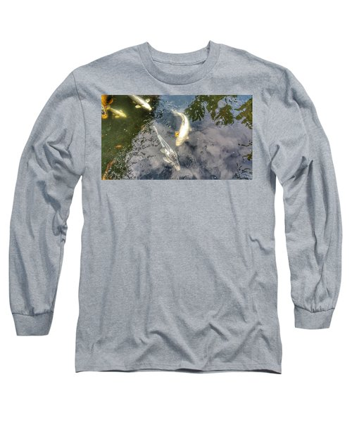Reflections And Fish 9 Long Sleeve T-Shirt by Isabella F Abbie Shores FRSA