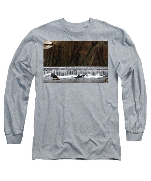 Reflections And Water Fall Long Sleeve T-Shirt by Dorin Adrian Berbier