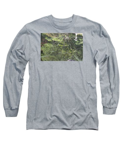 Reflections In The Japanese Gardens Long Sleeve T-Shirt by Linda Geiger