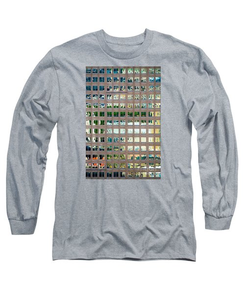Reflections In Windows Of Office Building Long Sleeve T-Shirt