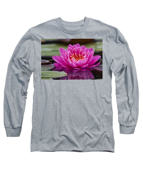 Reflections Of A Waterlily Long Sleeve T-Shirt