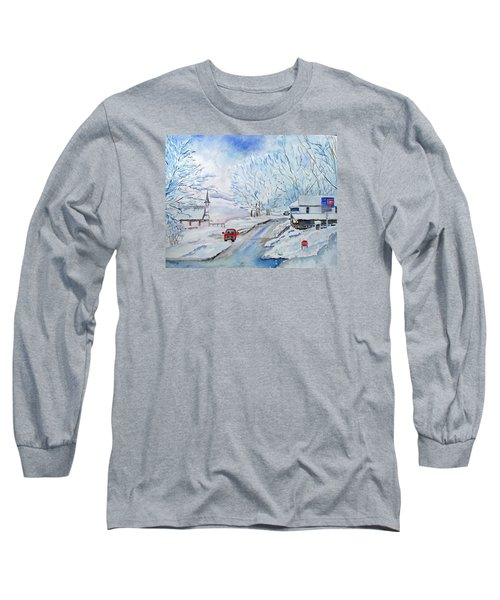 Refuge From The Storm Long Sleeve T-Shirt by Christine Lathrop