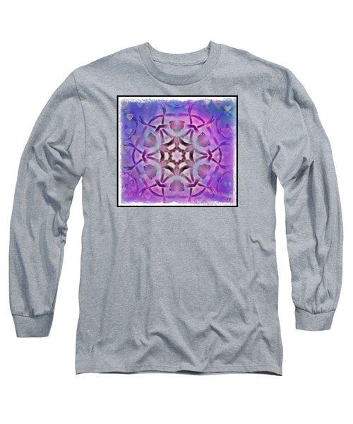 Reiki Infused Healing Hands Mandala Long Sleeve T-Shirt