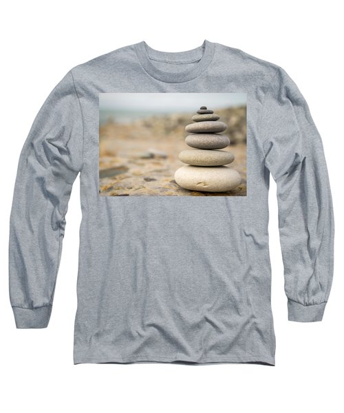 Relaxation Stones Long Sleeve T-Shirt by John Williams
