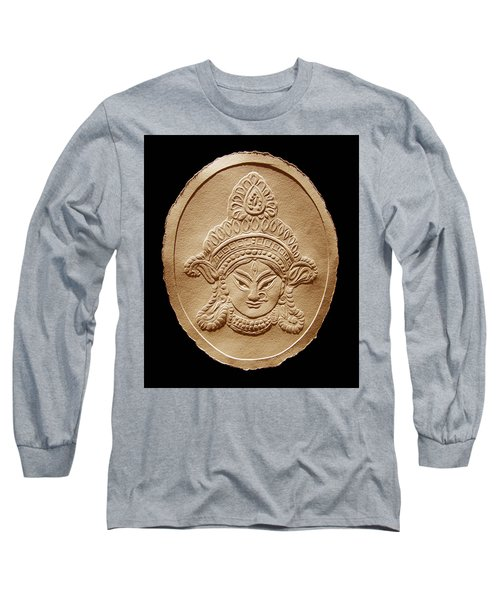 Relief Drawing Of Goddess Durga Devi  Long Sleeve T-Shirt
