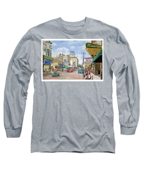 Long Sleeve T-Shirt featuring the painting Remembering Duval St. by Bob George