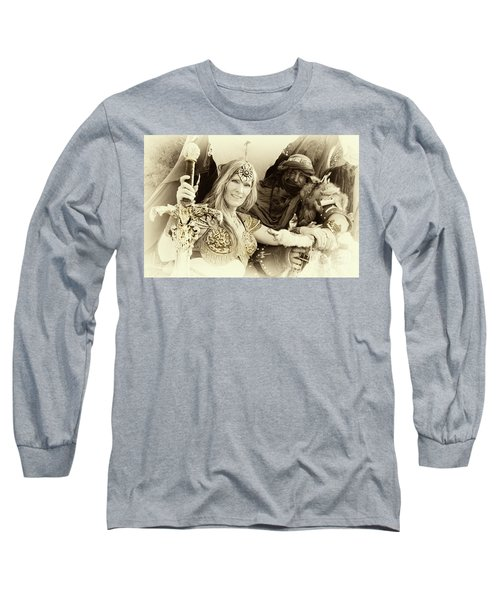 Long Sleeve T-Shirt featuring the photograph Renaissance Festival Barbarians by Bob Christopher