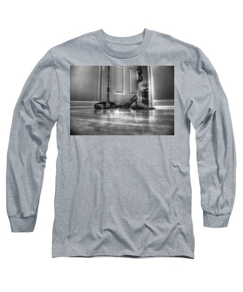 Rendezvous Do Not Disturb 05 Bw Long Sleeve T-Shirt by Andy Lawless