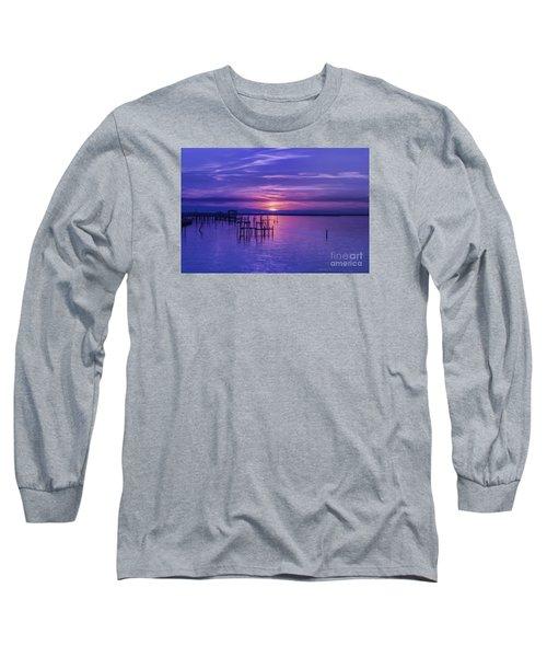 Rest Well World Purple Sunset Long Sleeve T-Shirt
