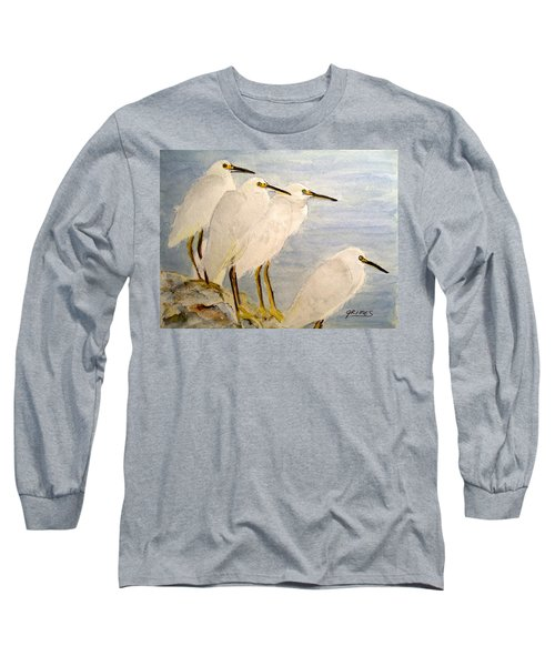 Resting Egrets Long Sleeve T-Shirt