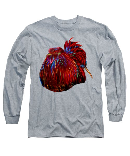 Resting Rooster Long Sleeve T-Shirt by Pamela Walton