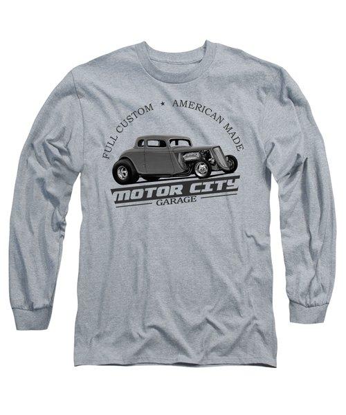 Retro Hot Rod Garage Long Sleeve T-Shirt