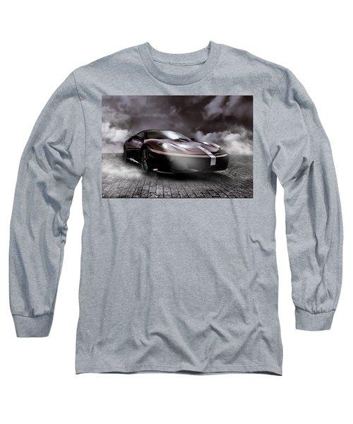 Retro Sports Car - Formule 1 Long Sleeve T-Shirt by Yvon van der Wijk