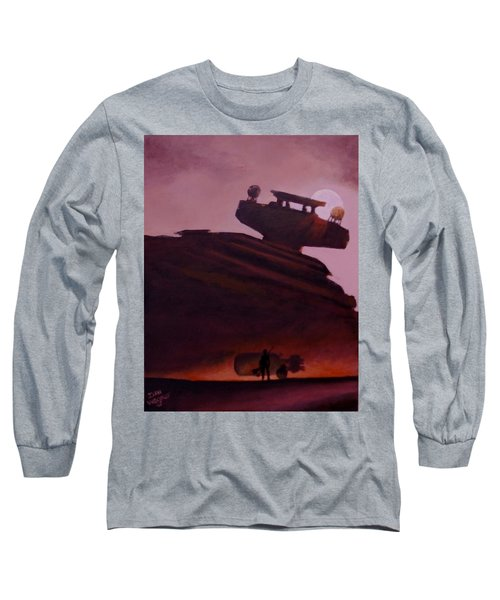 Long Sleeve T-Shirt featuring the painting Rey Looks On by Dan Wagner