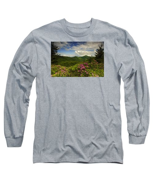 Rhododendrons On The Blue Ridge Parkway Long Sleeve T-Shirt