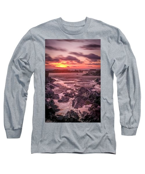 Rhosneigr Beach At Sunset Long Sleeve T-Shirt