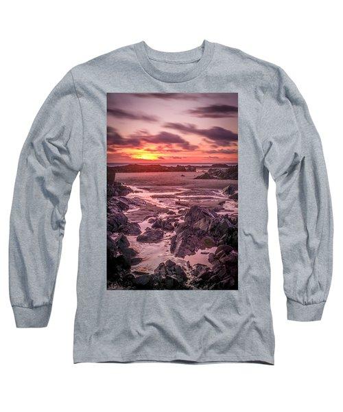 Rhosneigr Beach At Sunset Long Sleeve T-Shirt