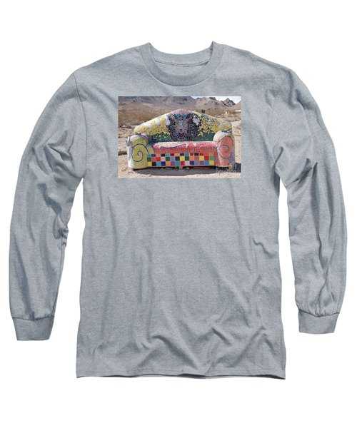 Long Sleeve T-Shirt featuring the photograph Rhyolite Sofa by Walter Chamberlain