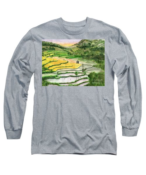 Ricefield Terrace II Long Sleeve T-Shirt by Melly Terpening
