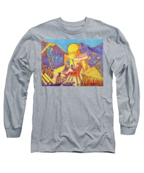 Rich Fool Parable Painting By Bertram Poole Long Sleeve T-Shirt by Thomas Bertram POOLE