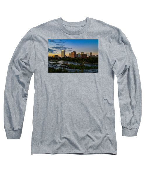 Richmond Skyline At Dusk Long Sleeve T-Shirt