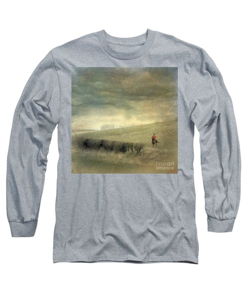 Rider In The Storm Long Sleeve T-Shirt by LemonArt Photography