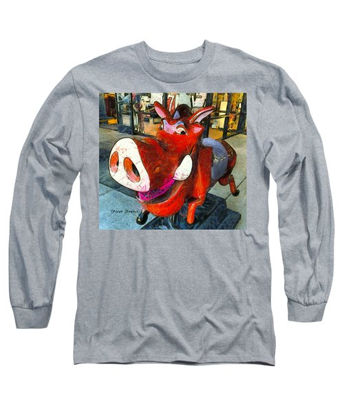 Long Sleeve T-Shirt featuring the photograph Riding Pig Of Pismo Beach by Floyd Snyder