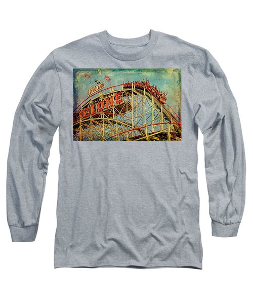 Riding The Cyclone Long Sleeve T-Shirt by Chris Lord