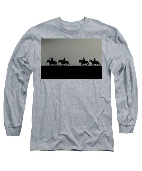 Riding The Range At Sunrise Long Sleeve T-Shirt