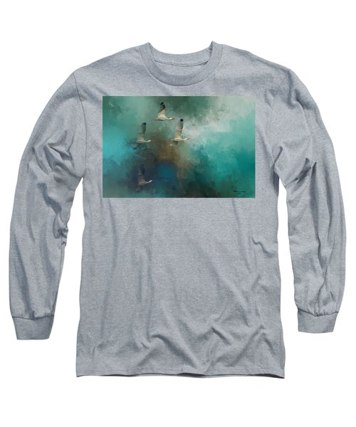 Riding The Winds Long Sleeve T-Shirt by Marvin Spates