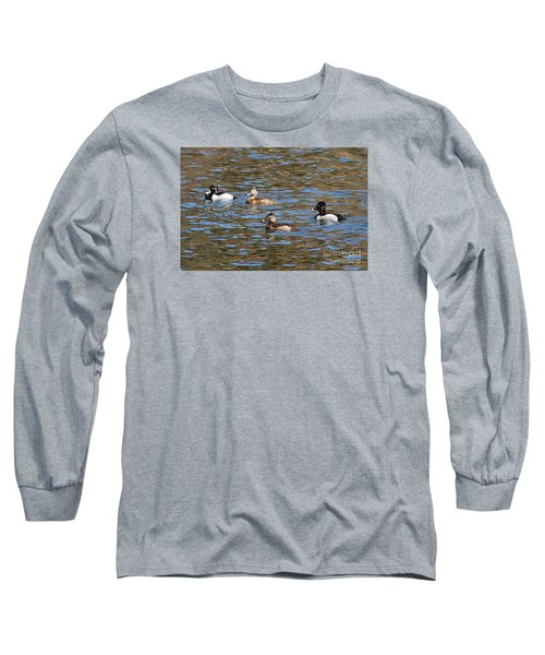 Long Sleeve T-Shirt featuring the photograph Ring Neck Ducks 20120314_d by Tina Hopkins