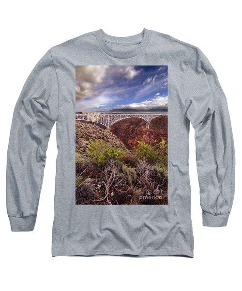 Long Sleeve T-Shirt featuring the photograph Rio Grande Gorge Bridge by Jill Battaglia