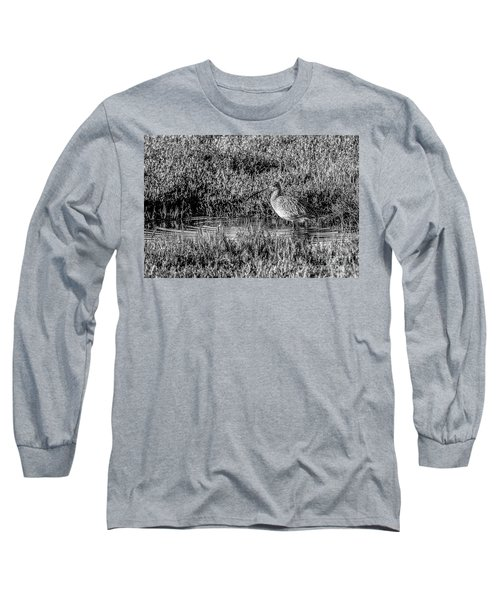 Camouflage, Black And White Long Sleeve T-Shirt