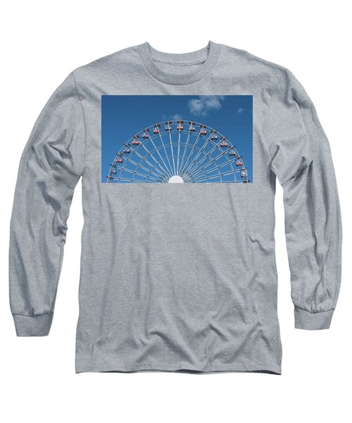 Rise Up Ferris Wheel In The Clouds Seaside Nj Long Sleeve T-Shirt by Terry DeLuco