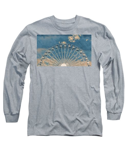 Rise Up Ferris Wheel In The Clouds Long Sleeve T-Shirt by Terry DeLuco
