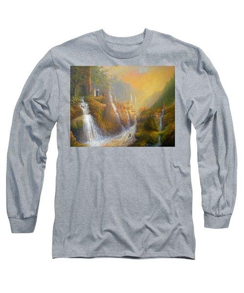 Rivendell Wisdom Of The Elves. Long Sleeve T-Shirt by Joe  Gilronan