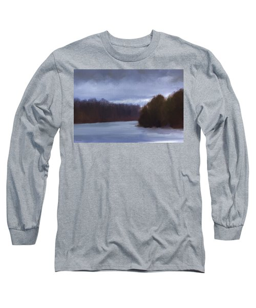 River Bend In Winter Long Sleeve T-Shirt