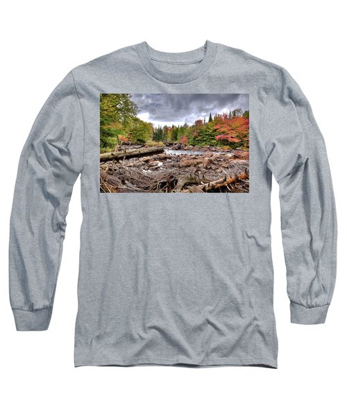 Long Sleeve T-Shirt featuring the photograph River Debris At Indian Rapids by David Patterson