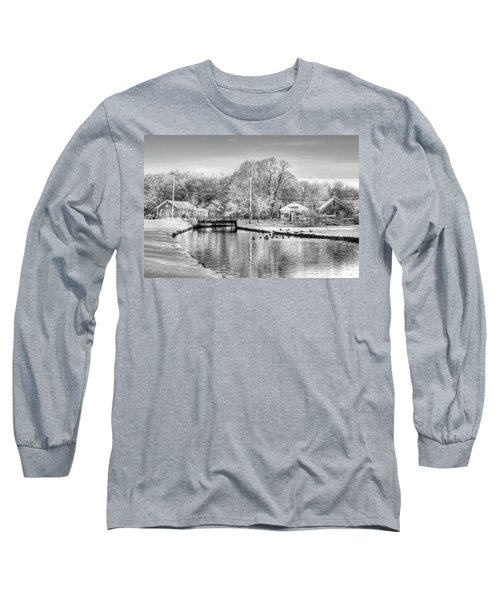 River In The Snow Long Sleeve T-Shirt